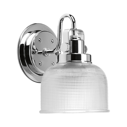 Progress Lighting Sconce Wall Light with Clear Glass in Polished Chrome Finish P2989-15