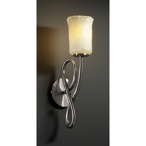 Justice Design Group Justice Design Group Veneto Luce Collection Sconce GLA-8911-16-WHTW-NCKL
