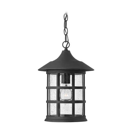 Hinkley Lighting Outdoor Hanging Light with Clear Glass in Black Finish 1802BK-GU24