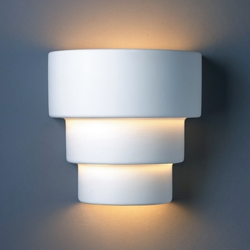 Justice Design Group Outdoor Wall Light in Bisque Finish CER-2225W-BIS