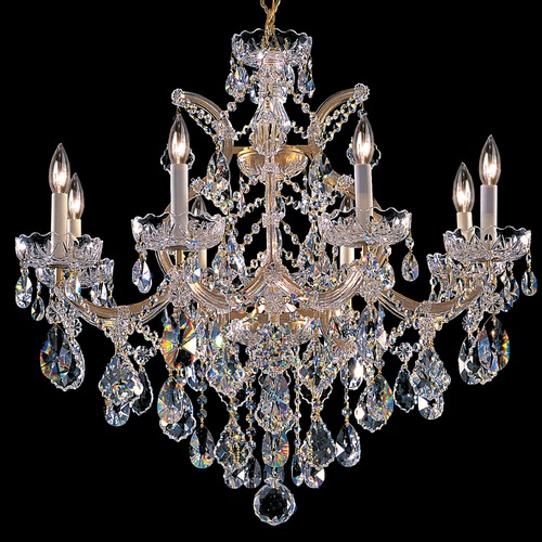Crystorama Lighting Crystorama Lighting Maria Theresa Gold Crystal Chandelier 4409-GD-CL-MWP