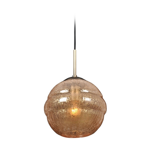 Kalco Lighting Kalco Lighting Celine Chemical Bronze Mini-Pendant Light with Globe Shade 7572CB