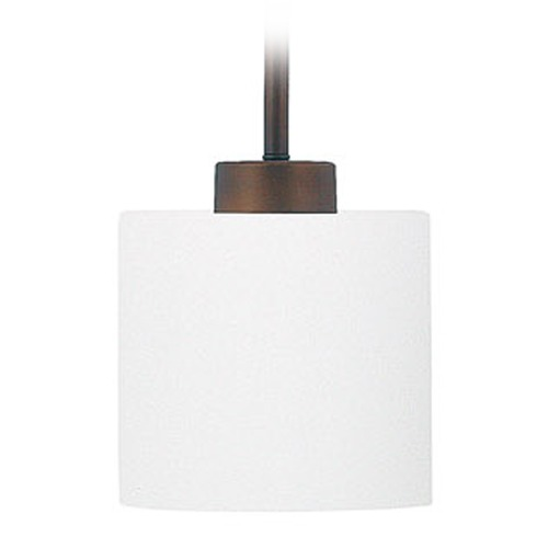 Capital Lighting Capital Lighting Steele Burnished Bronze Mini-Pendant Light with Drum Shade 4340BB-103