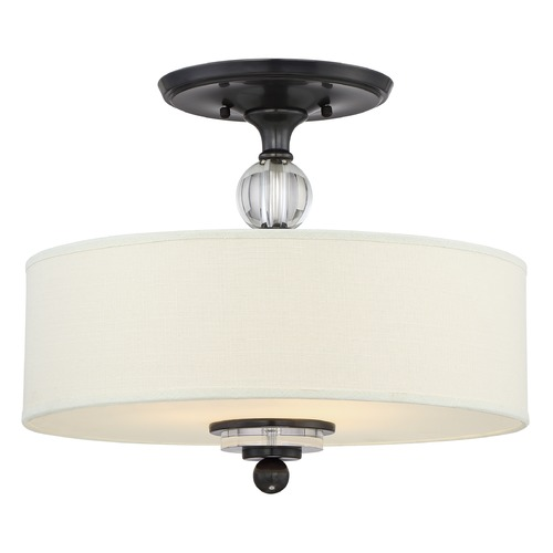 Quoizel Lighting Quoizel Lighting Downtown Dusk Bronze Semi-Flushmount Light DW1717D