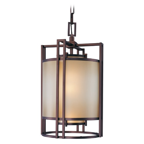 Metropolitan Lighting Underscore Cimmaron Bronze Pendant Light with Cylindrical Shade N6954-1-267B
