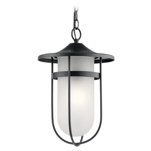 Kichler Lighting Kichler Lighting Finn Black Outdoor Hanging Light 49828BK