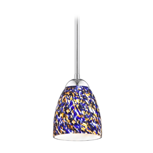 Design Classics Lighting Modern Mini-Pendant Light 581-26 GL1009MB