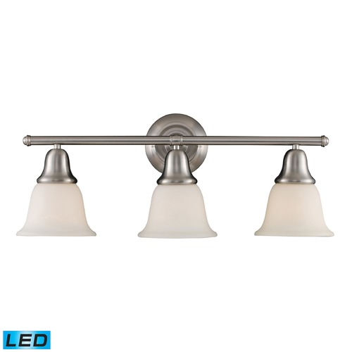 Elk Lighting Elk Lighting Berwick Brushed Nickel LED Bathroom Light 67022-3-LED