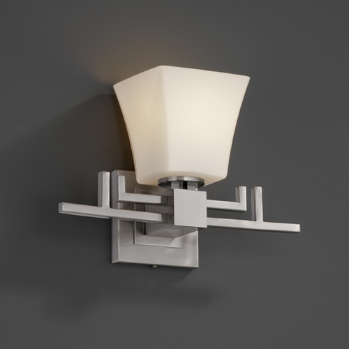 Justice Design Group Justice Design Group Fusion Collection Sconce FSN-8701-40-OPAL-NCKL