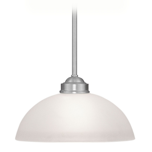 Livex Lighting Livex Lighting Somerset Brushed Nickel Pendant Light with Bowl / Dome Shade 4211-91