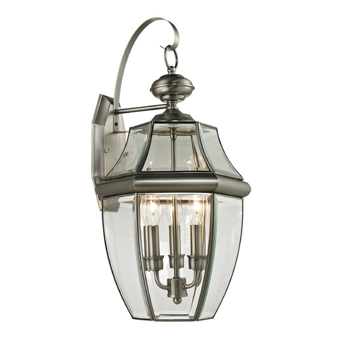 Cornerstone Lighting Cornerstone Lighting Ashford Antique Nickel Outdoor Wall Light 8603EW/80