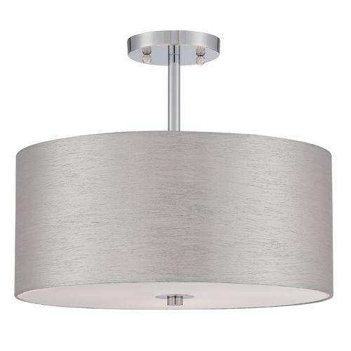 Lite Source Lighting Lite Source Lighting Silvain Chrome Semi-Flushmount Light LS-5570C/SIL