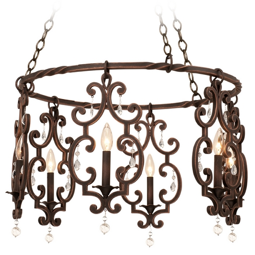 Kalco Lighting Kalco Lighting Montgomery Antique Copper Chandelier 2639AC