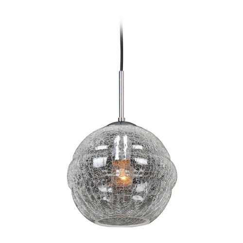 Kalco Lighting Kalco Lighting Celine Chrome Pendant Light with Globe Shade 7573CH