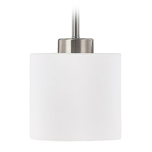 Capital Lighting Capital Lighting Steele Brushed Nickel Mini-Pendant Light with Drum Shade 4340BN-103
