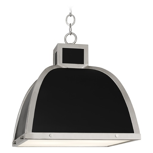 Robert Abbey Lighting Robert Abbey Lighting Ranger Black and Nickel Pendant Light with Square Shade 1446
