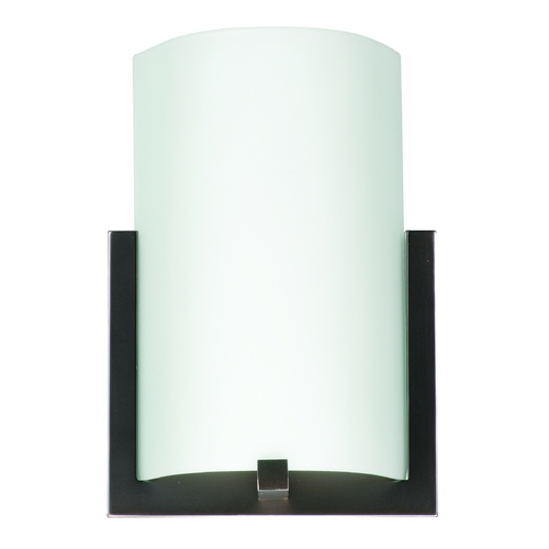 Philips Lighting Modern Sconce Wall Light with White Glass in Merlot Bronze Finish F541270U