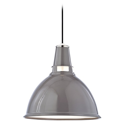 Hudson Valley Lighting Modern Pendant Light in Gray/polished Nickel Finish 6816-GPN