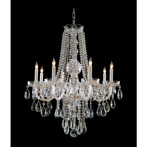Crystorama Lighting Crystal Chandelier in Polished Chrome Finish 1108-CH-CL-MWP