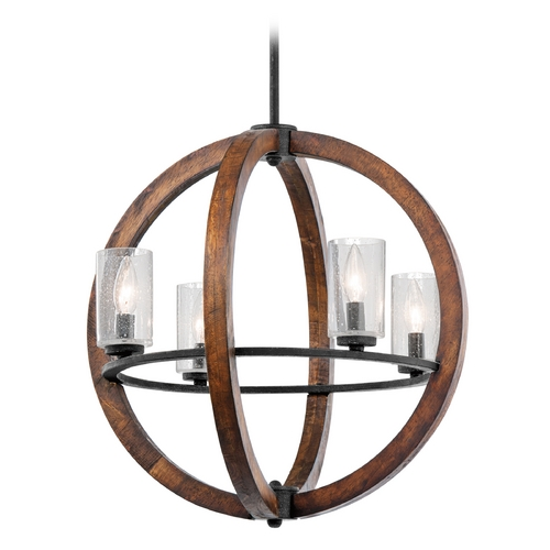 Kichler Lighting Kichler Pendant Light with Clear Glass in Auburn Stained Finish 43185AUB