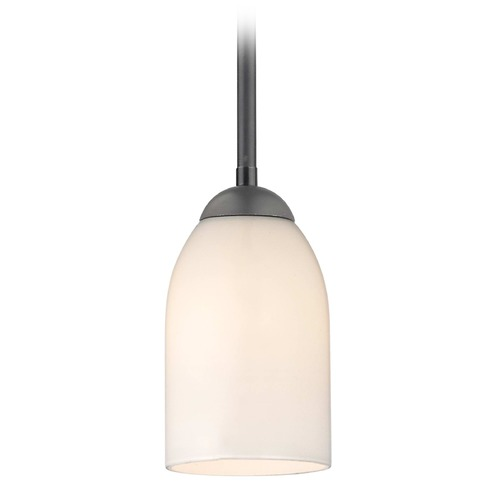 Design Classics Lighting Design Classics Gala Fuse Matte Black LED Mini-Pendant Light with Bowl / Dome Shade 681-07 GL1028D