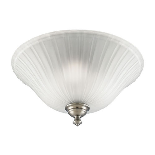 Progress Lighting Progress Flushmount Light with White Glass in Antique Nickel Finish P3515-81