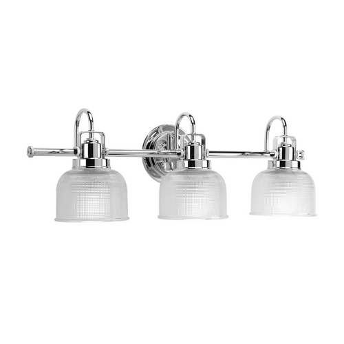 Progress Lighting Progress Bathroom Light with Clear Glass in Chrome Finish P2992-15