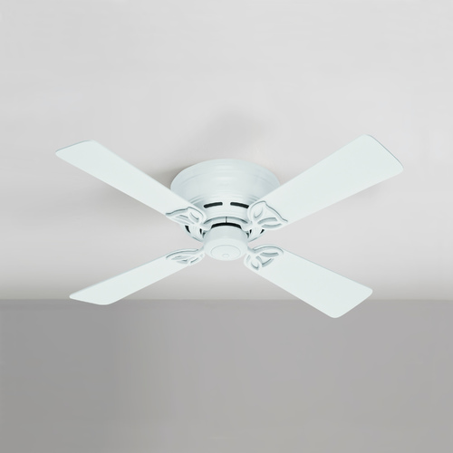 Hunter Fan Company 42-Inch Hunter Fan Low Profile IV White Ceiling Fan Without Light 51059