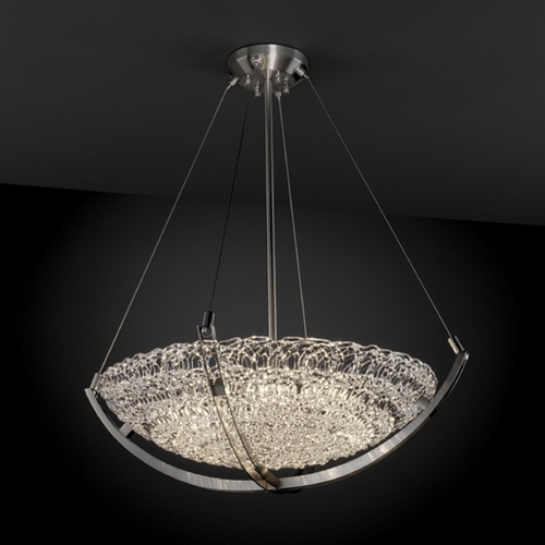 Justice Design Group Justice Design Group Veneto Luce Collection Pendant Light GLA-9722-35-LACE-NCKL
