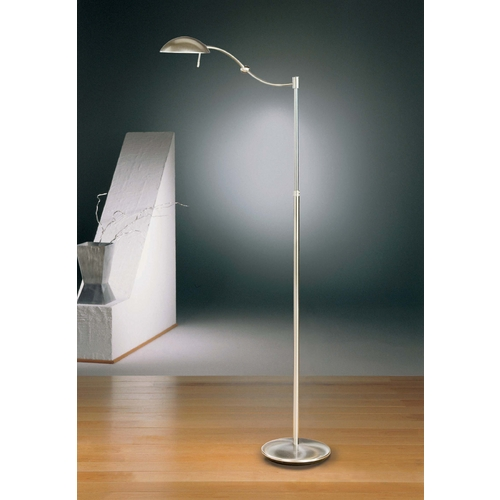 Holtkoetter Lighting Holtkoetter Modern Swing Arm Lamp in Satin Nickel Finish 6450P1 SN