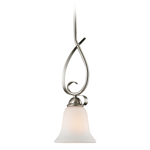 Cornerstone Lighting Cornerstone Lighting Brushed Nickel Mini-Pendant with Bell Shade 1001PS/20