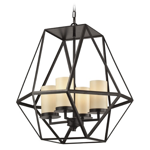 Elk Lighting Elk Lighting Delaney Oil Rubbed Bronze Pendant Light with Cylindrical Shade 31187/4