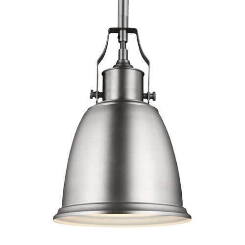 Feiss Lighting Feiss Hobson Satin Nickel Mini-Pendant Light P1357SN