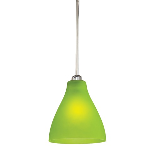 George Kovacs Lighting George Kovacs Brushed Nickel Mini-Pendant Light with Conical Shade P21-4-084