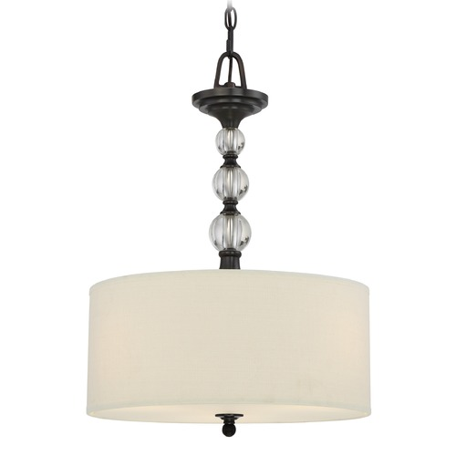 Quoizel Lighting Quoizel Lighting Downtown Dusk Bronze Pendant Light with Drum Shade DW2817D