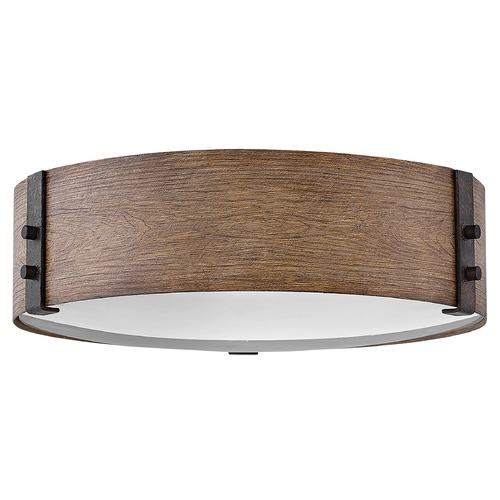 Hinkley Hinkley Sawyer 3-Light Sequoia / Iron Rust Close to Ceiling Light 29203SQ