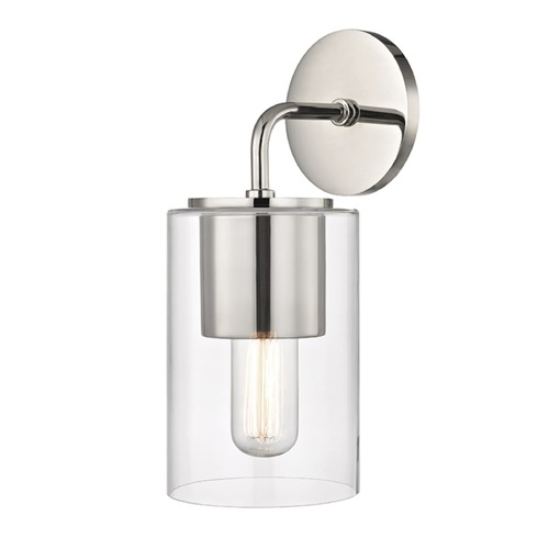 Hudson Valley Lighting Mid-Century Modern Sconce Polished Nickel Mitzi Lula by Hudson Valley H135101-PN