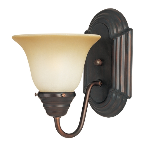 Maxim Lighting Sconce Wall Light with Beige / Cream Glass in Oil Rubbed Bronze Finish 8011WSOI