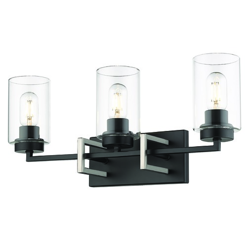 Golden Lighting Golden Lighting Tribeca Black Bathroom Light 6070-BA3BLK-PW