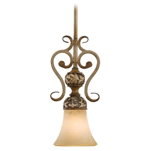 Minka Lavery Mini-Pendant Light with Beige / Cream Glass 1561-477