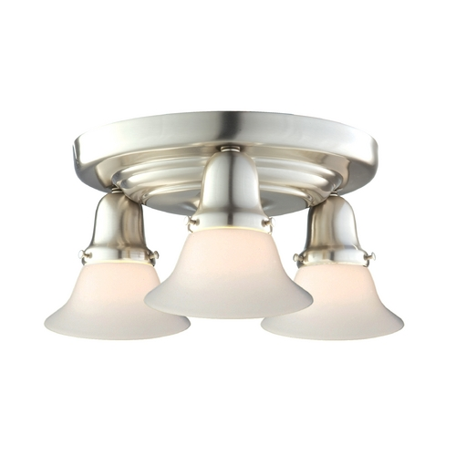 Hudson Valley Lighting Semi-Flushmount Light with White Glass in Satin Nickel Finish 587-SN-415M