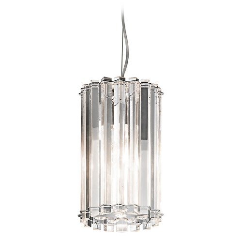 Kichler Lighting Kichler Modern Mini-Pendant Light with Clear Glass 42174CH
