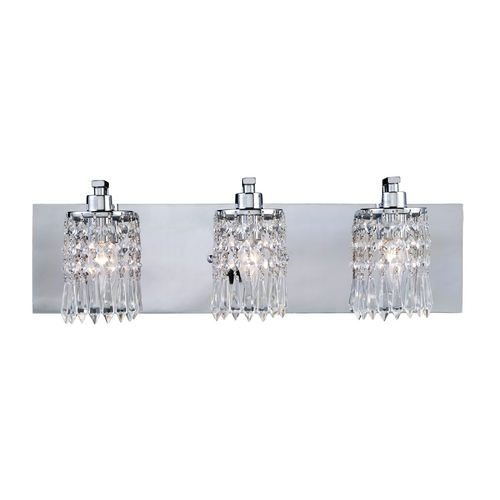 Elk Lighting Modern Bathroom Light with Clear Glass in Polished Chrome Finish 11230/3