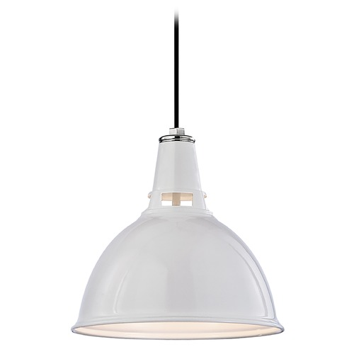 Hudson Valley Lighting Modern Pendant Light in White Polished Nickel Finish 6816-WPN