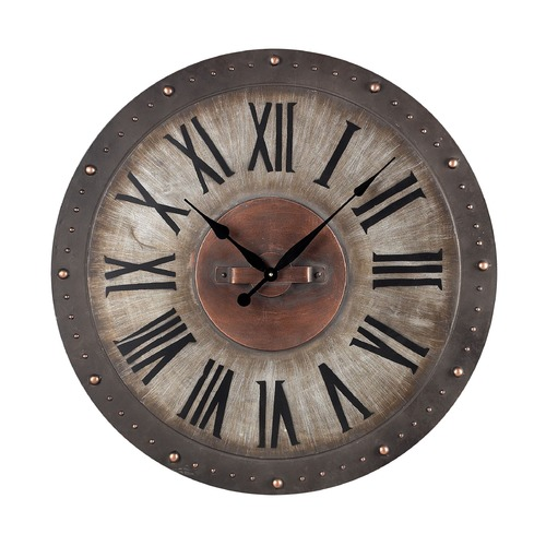 Sterling Lighting Sterling Lighting Grey with Copper Highlight Clock 128-1005