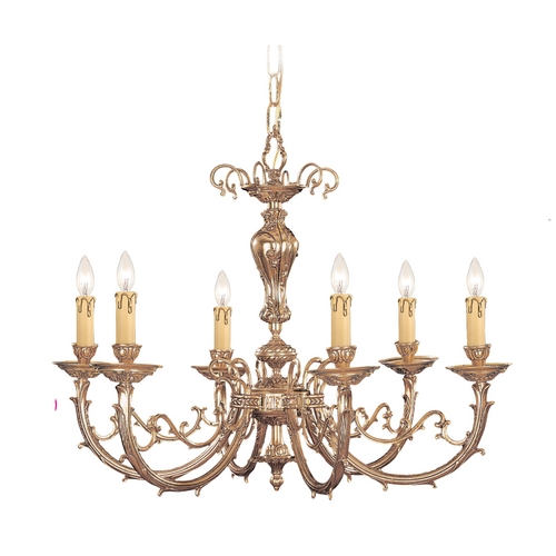 Crystorama Lighting Chandelier in Olde Brass Finish 486-OB