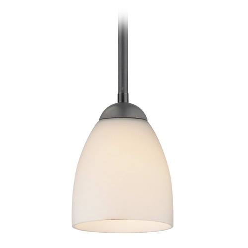 Design Classics Lighting Design Classics Gala Fuse Matte Black LED Mini-Pendant Light with Bell Shade 681-07 GL1028MB