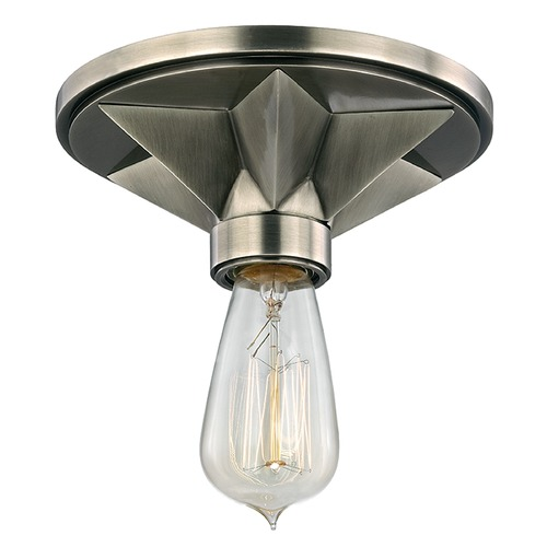 Hudson Valley Lighting Bethesda 1 Light Flushmount Light - Aged Silver 4080-AS