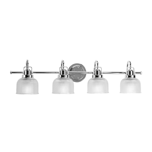 Progress Lighting Bathroom Light with Clear Glass in Polished Chrome Finish P2997-15