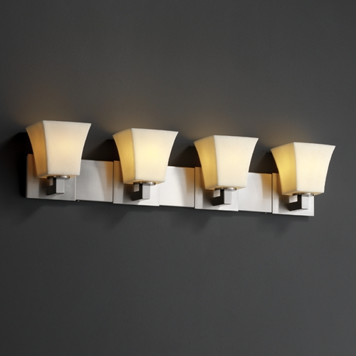 Justice Design Group Justice Design Group Candlearia Collection Bathroom Light CNDL-8924-40-CREM-NCKL